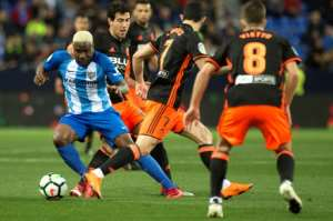 Brown Ideye is hoping to help embattled Malaga avoid the drop from Spain's top flight.  By JORGE GUERRERO (AFP)