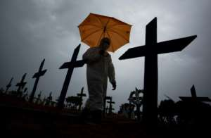 Brazil Covid deaths are soaring, with Manaus one of the hotspots.  By MICHAEL DANTAS (AFP/File)