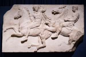 Britain has held a collection of superb marble sculptures from the Parthenon since the 1800s, to the great displeasure of Athens.  By LEON NEAL (AFP/File)