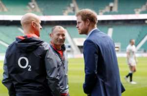 Britain's Prince Harry is a big rugby fan.  By Kirsty Wigglesworth (POOL/AFP)