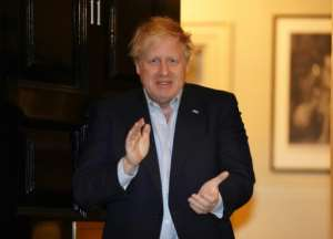 British premier Boris Johnson was still working in isolation after testing positive.  By Pippa FOWLES (10 Downing Street/AFP)