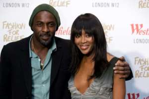 British supermodel Naomi Campbell (R and British actor Idris Elba (L) were among those who signed an open letter criticising Ghana's stance on LGBT rights.  By Justin TALLIS (AFP/File)