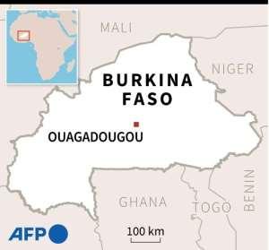 Map of Burkina Faso, locating Tokabangou..  By  (AFP)