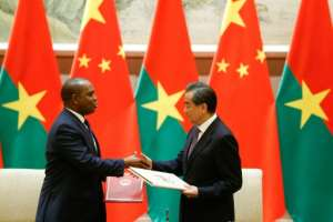 Burkina Faso established diplomatic relations with China days after breaking ties with Taiwan.  By THOMAS PETER (POOL/AFP)