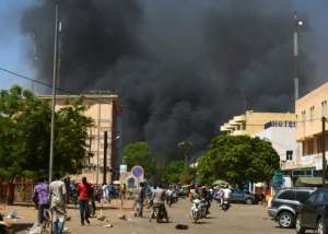 Burkina Faso is on the front line of the jihadist revolt in the Sahel, with gunmen launching coordinated attacks in March on the French embassy, cultural centre and the Burkinabe military headquarters in Ouagadougou.  By Ahmed OUOBA (AFP/File)