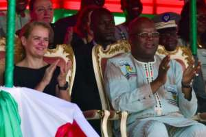 Burkina Faso's president Roch Marc Christian Kabore and Canadian Governor General Julie Payette opened the fair.  By ISSOUF SANOGO (AFP)