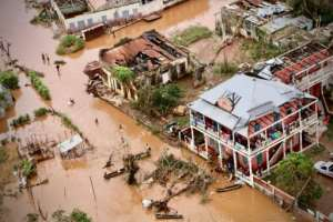 Buzi lay in the pathway of Tropical Cyclone Idai, which smashed into central Mozambique last Friday before cutting a swathe through southern Malawi and Zimbabwe. By ADRIEN BARBIER (AFP)