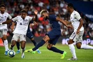 Cameroonian international Eric-Maxim Choupo-Moting scored twice for Paris Saint-Germain against.  By FRANCK FIFE (AFP)