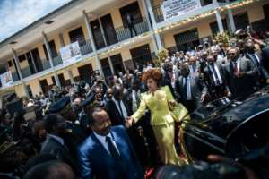 Cameroon's incumbent President Paul Biya is widely expected to win a seventh term in office.  By ALEXIS HUGUET (AFP)