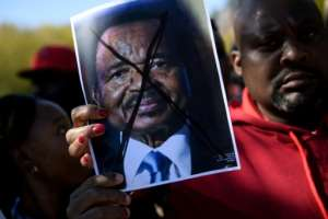 Cameroon's opposition and its supporters have been pushing for President Paul Biya to step down after ruling the country for 35 years.  By Brendan Smialowski (AFP/File)