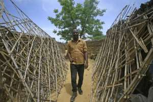 Camp Kalma is one of the largest facilities hosting people displaced by the Darfur conflict.  By ASHRAF SHAZLY (AFP/File)