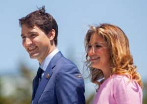 Canada's Prime Minister Justin Trudeau and his wife Sophie are in self-imposed quarantine.  By GEOFF ROBINS (AFP/File)