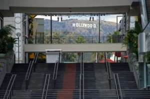 California, New York and Illinois have announced coronavirus stay-at-home orders -- here, the empty Hollywood and Highland mall is seen in Los Angeles.  By Agustin PAULLIER (AFP)