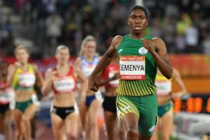 Caster Semenya is a double Olympic 800m champion and has won three world titles. By SAEED KHAN (AFP/File)