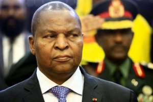 Central African president Faustin-Archange Touadera, pictured February 2019, told reporters his country is