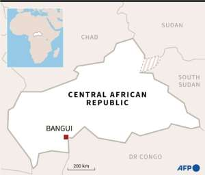 Map of the Central African Republic.  By William ICKES (AFP)