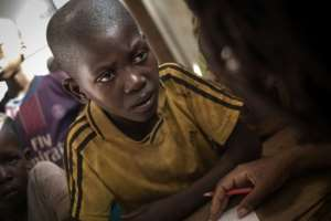 Central African Republic has been in conflict since 2003 -- children have witnessed brutal acts.  By FLORENT VERGNES (AFP)