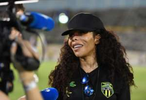 Cedella Marley, daughter of the late reggae legend, has become an ambassador of sorts for Jamaica's national women's football team.  By Angela Weiss (AFP)