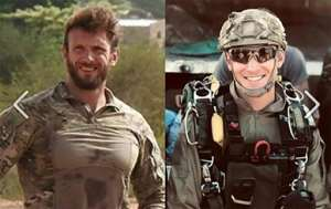 Cedric de Pierrepont (left) and Alain Bertoncello, both members of the French special forces, died in a complex overnight raid in northern Burkina Faso in which four foreign hostages were rescued. By HO (MARINE NATIONALE/AFP)