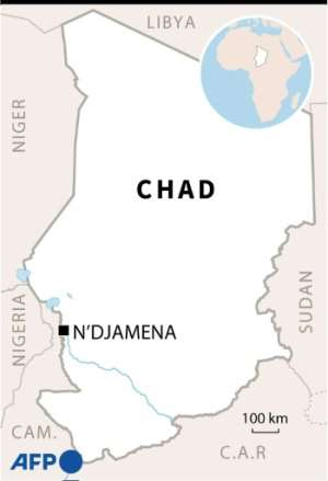 Map of Chad in Africa.  By Patricio ARANA (AFP)