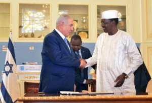 Chadian President Idriss Deby Itno and Israeli Prime Minister Benjamin Netanyahu restored diplomatic ties between their countries in what the latter called a