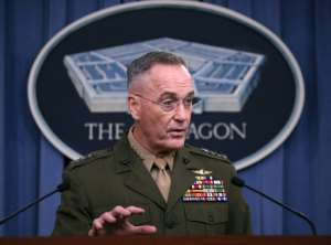 Chairman of the Joint Chiefs of Staff General Joseph Dunford says the Islamic State group aspires to a greater presence in Africa
