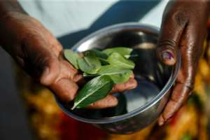 Chenyika does not know of the herbal tea she brews and drinks daily actually helps with her ailment.  By Jekesai NJIKIZANA (AFP)