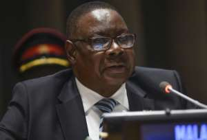 Civil action groups called for Mutharika to resign over claims that he and the ruling party received about $195,000  from a contractor supplying food rations to the police.  By Riccardo Savi (GETTY IMAGES NORTH AMERICA/AFP/File)
