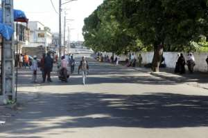 Civilians deserted the streets of Moroni as gunfire rocked the Comoran capital. By YOUSSOUF IBRAHIM (AFP)