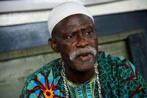 Community support: Albert Jeje, one of Makoko's five traditional leaders.  By PIUS UTOMI EKPEI (AFP)