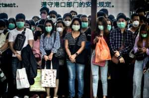 Commuters in Bangkok. Face masks are in short supply across many parts of Asia.  By Mladen ANTONOV (AFP)