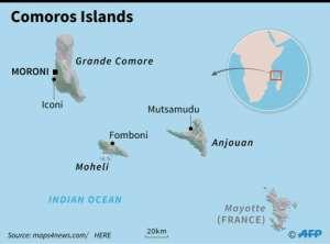 Map of the Comoros Islands. By Kun TIAN (AFP)