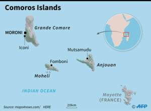 Map of the Comoros Islands. By Kun TIAN (AFP)