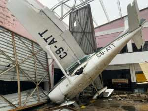 Cyclone damage: Beira airport was one of the victims of the storm. By Déborah NGUYEN (WFP/AFP)