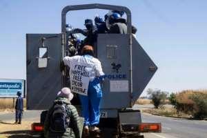Dangarembga and a fellow protester, Julie Barnes, were arrested after staging a roadside demonstration.  By ZINYANGE AUNTONY (AFP)