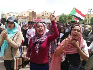Demonstrators marched in Khartoum on Thursday to