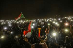 Demonstrators have been camped outside the army headquarters in Khartoum for more than two weeks.  By OZAN KOSE (AFP)