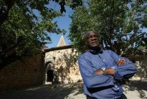 Denis Mukwege travelled to Iraq this year to help  Yazidi victims of jihadists, like fellow Nobel winner Nadia Murad.  By SAFIN HAMED (AFP/File)