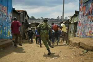 Deadly violence flared in the Kenyan capital's flashpoint Mathare slum after opposition accusations that the general election was rigged