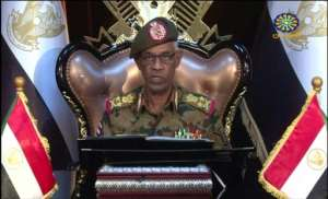 Defence Minister Awad Ibn Ouf resigns as head of Sudan's transitional military council only a day after being sworn in. By - (Sudan TV/AFP)