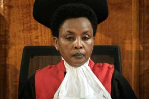 Deputy Chief Justice Philomena Mwilu stepped into the limelight last year for her role in scrapping the outcome of Kenya's controversial presidential election.  By Yasuyoshi CHIBA (AFP/File)