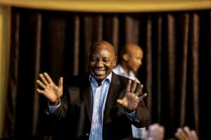 Deputy President Cyril Ramaphosa has taken a giant's stride towards his avowed goal of transforming South Africa.  By MUJAHID SAFODIEN (AFP/File)