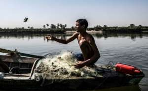 Despite its importance, the Nile is still heavily polluted in Egypt.  By Khaled DESOUKI (AFP/File)