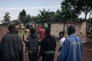 Dhera residents returned to see their destroyed homes.  By ALEXIS HUGUET (AFP)