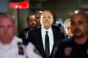 Disgraced Hollywood film producer Harvey Weinstein is facing sex crimes charges in New York -- his downfall galvanized the #MeToo movement.  By EDUARDO MUNOZ ALVAREZ (AFP/File)