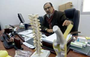 Doctor Mohamad Ehwas says the hospital is operating at twice its capacity.  By Mahmud TURKIA (AFP)