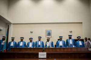 DR Congo's Constitutional Court issued its final ruling in the early hours of January 20, confirming Felix Tshisekedi as the president elect.  By Caroline THIRION (AFP)