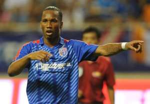 Didier Drogb aplaying  for Shanghai Shenhua FC in Shanghai Hongkou Stadium, August 4, 2012.  By Peter Parks (AFP/File)