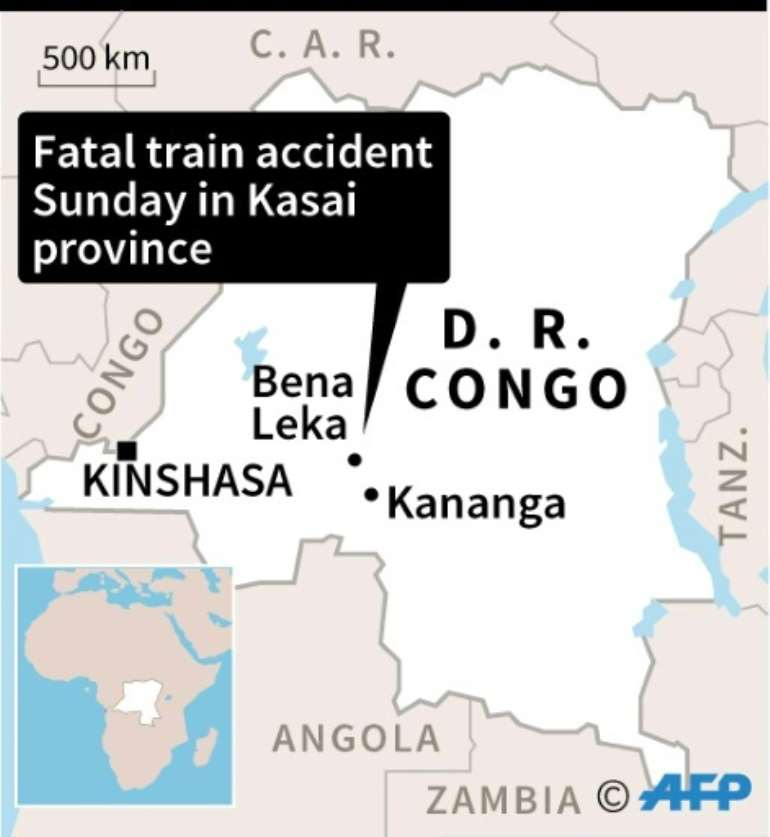 DRCongo train crash.  By  (AFP)