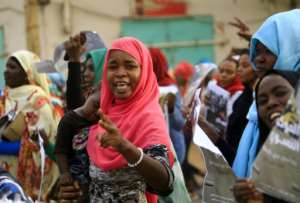 During the eight months of protests that turned the page on 30 years of dictatorship, women demonstrated repeatedly for improved representation in a new Sudan.  By ASHRAF SHAZLY (AFP/File)